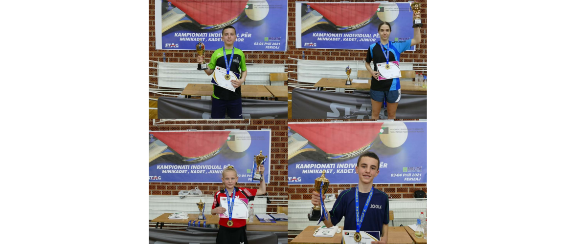 Elton Shemsiu e Taibe Ruli për Minikadet/e dhe Anes Behluli e Adea Babuni për Kadet/e shpallen fitues në Kampionatin Individual të Kosovës