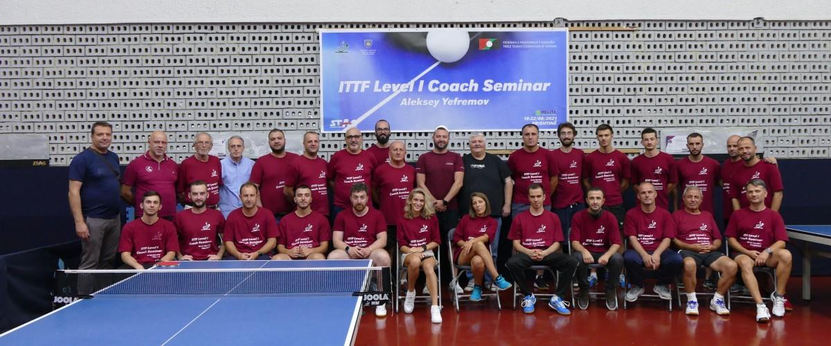Përfundoj seminari për trajner ITTF-PTT Level 1 Course